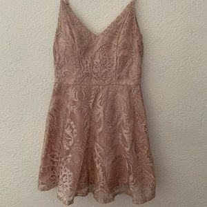 Rose gold colored dress